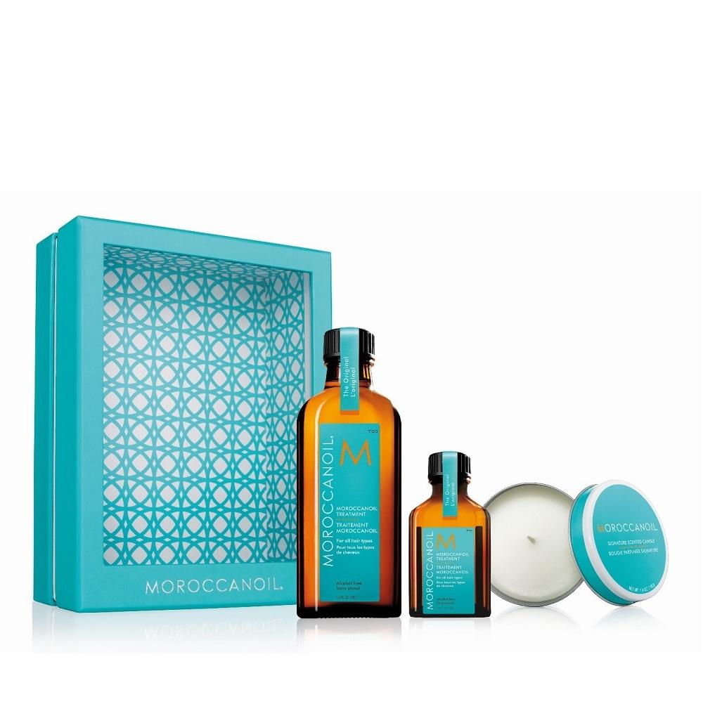 Moroccanoil Home&Away Kit mit Kerze