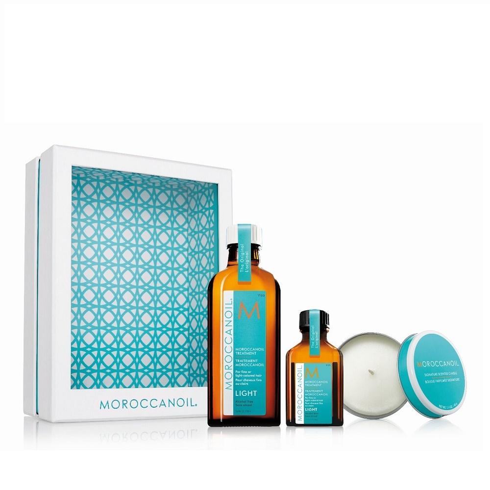 Moroccanoil Home&Away Kit Light mit Kerze