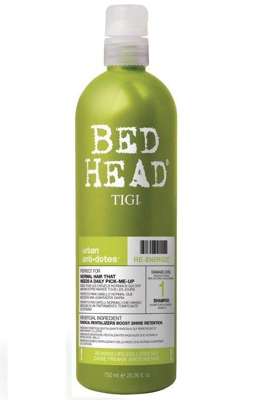 Tigi Bed Head Re-Energize Shampoo 750ml Damage Level 1
