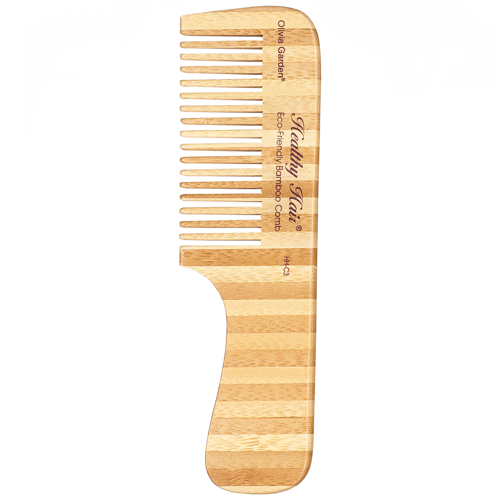 Olivia Garden Healthy Hair Bambus Griffkamm grob HH-C3