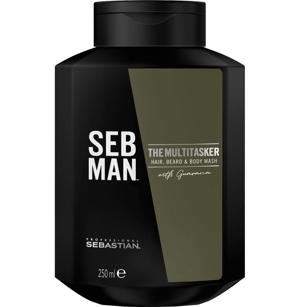 Sebastian Man The Multitasker 3in1 Hair, Beard & Body Wash 250ml
