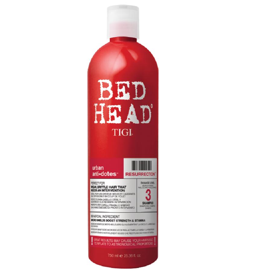 Tigi Bed Head Resurrection Shampoo 750ml Damage Level 3
